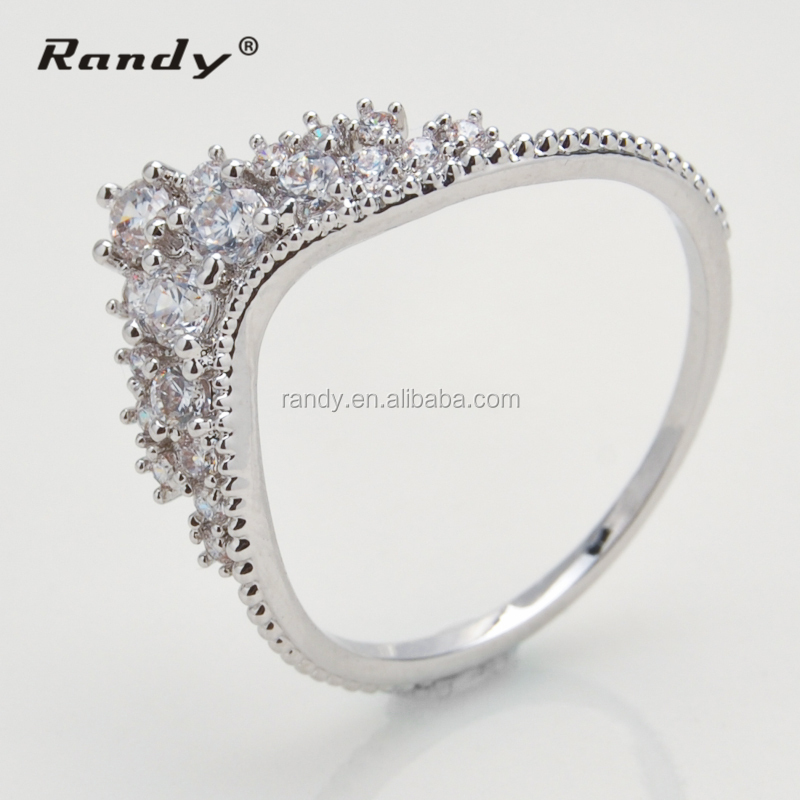 Hot New Model Royal Wedding Rings Crown Shaped Gold Ring Product On Alibaba