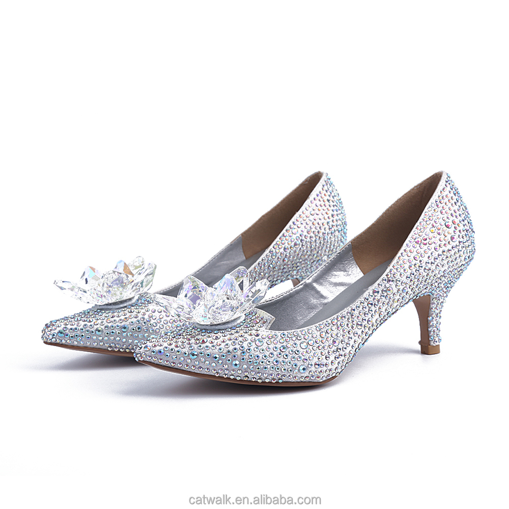 Silver Diamond High Heel Shoes