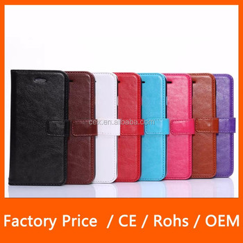 Vintage Folio Flip Premium Leather Front Protective Cover with Wallet Photo Card Slots Case For Apple iPhone 6 5.5''
