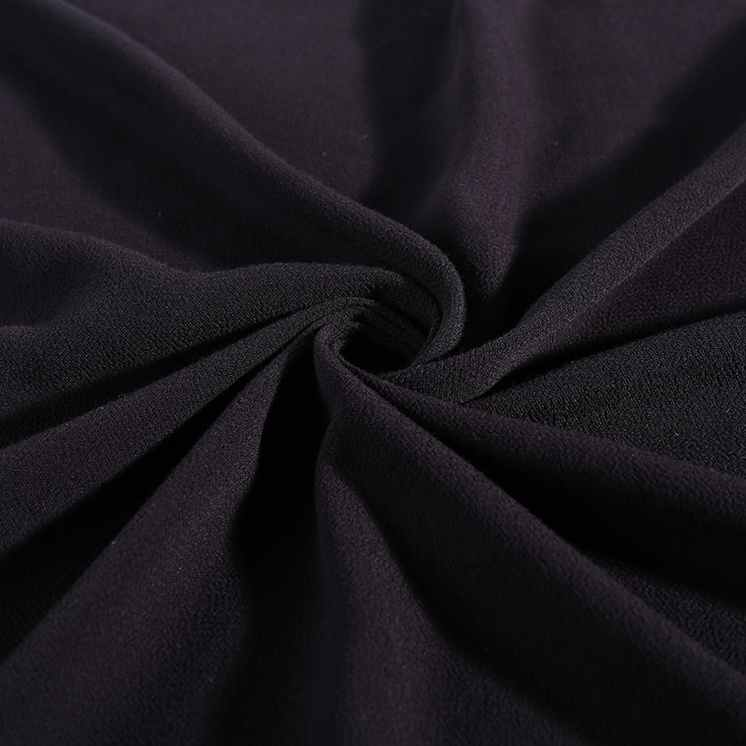 New products 100% rayon crepe clothes <strong>materials</strong> black dress <strong>material</strong> crinkle fabric