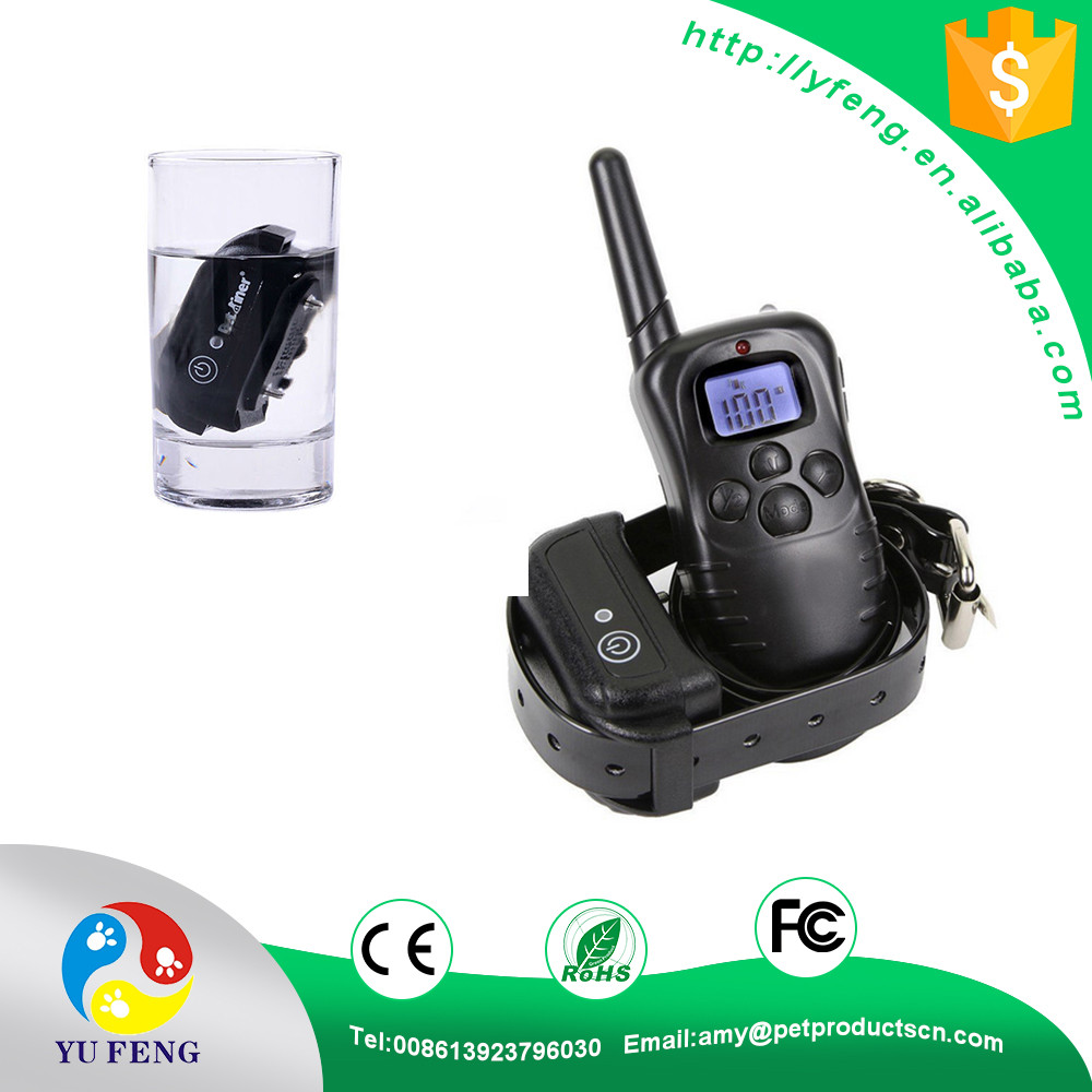 Remote Rechargeable Pet Dog Training Collar with LCD Display 100 Level Charge Shock Vibration