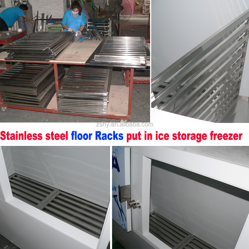 brand new ice merchandiser used for ice storing