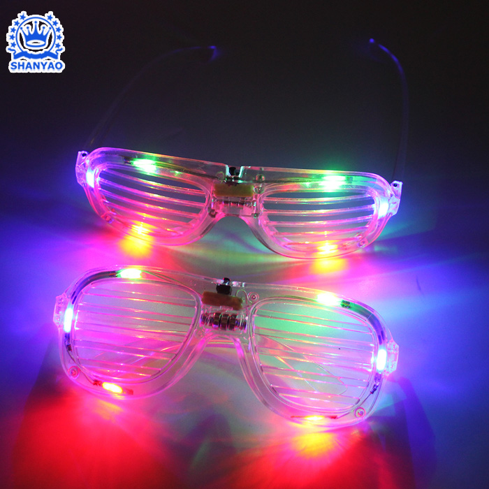 Apparel Accessories Men's Glasses Trustful Led Glasses Light Up Shades Flashing Rave Wedding Party Eyewear Luminous Glowing Night Shows Decors Activities Christmas Supply Evident Effect