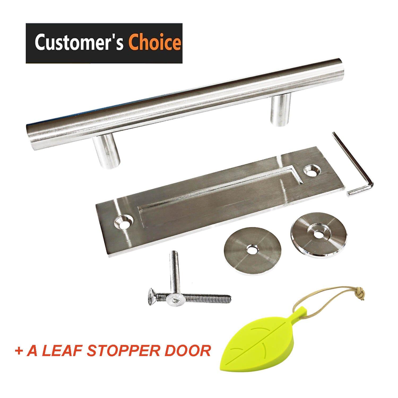 buy napupro barn door handle door handle pull and flush set with