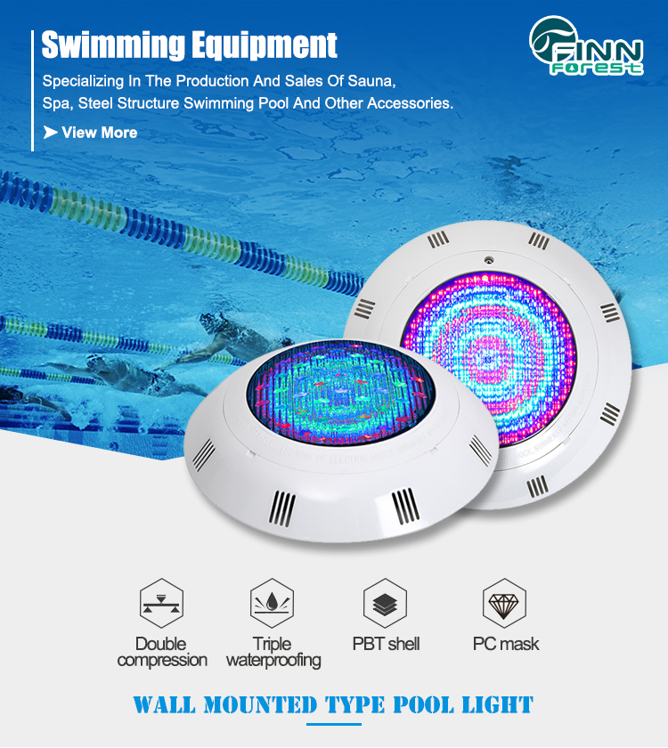 Factory Price 300MM 12Volt ABS Wall Hanging Cheap Multi Color Led 35w RGB Led Swimming Pool Light