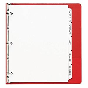 Sparco Products Print-on Tab Dividers,90 Bright,Ltr,3-HP,50ST/BX,White PROD-ID : 937261