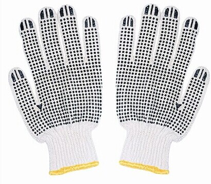 High Quality Polyester cotton with PVC dot Safety Glove Working Glove