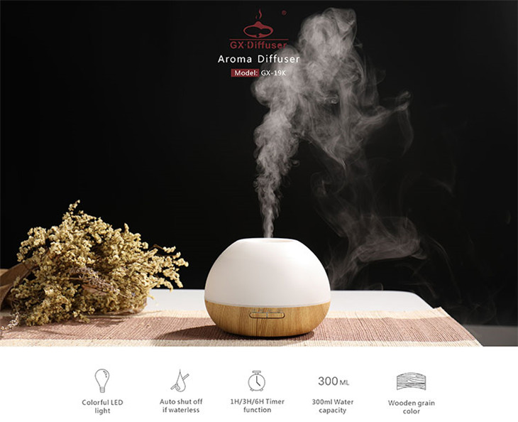 2019 hot new products ultrasonic essential oil wooden aroma diffuser
