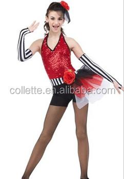 MBQ2015279 occidental adulto moderno lentejuelas rojo sexy trajes de danza  jazz 657b97d21c4