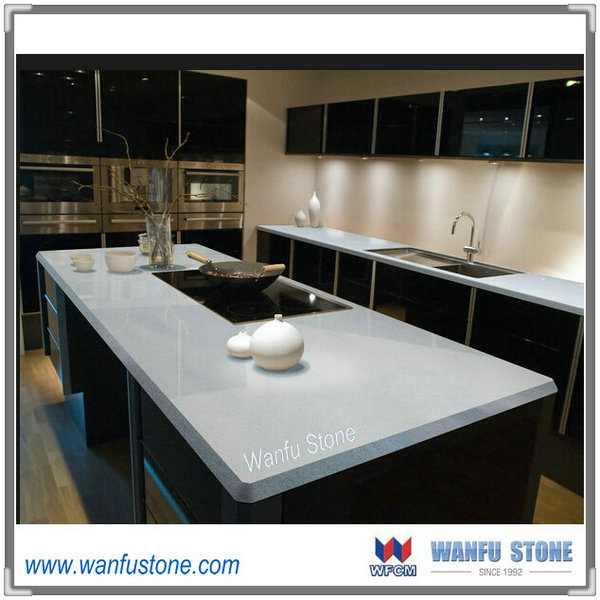 hot sale white quartz stone kitchen countertop/ quartz stone type
