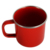 personalized caston iron red color porcelain enamel camping mug with gold rim