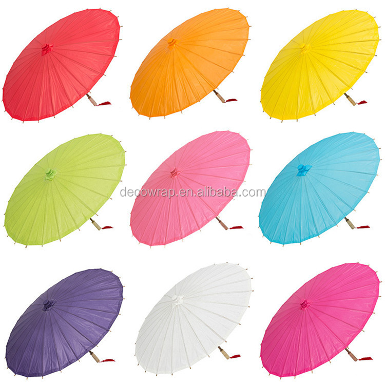 Wholesale Strollers Hand Painted DIY Decoration Paper Umbrella