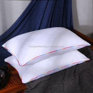 Fashion design protecting neck 3D microfiber satin cover hotel pillow for sleeping