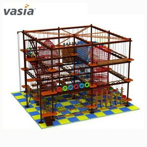 High ropes obstacle course Adventure play equipment shopping mall Indoor