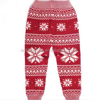 ba7304f4a6e wholesale boys gilrs child baby christmas lycra spandex knit snowflake  tights