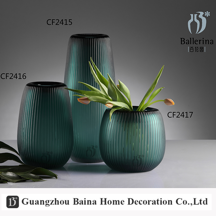 BALLERINA color decoration new style glass green bottle flower vase