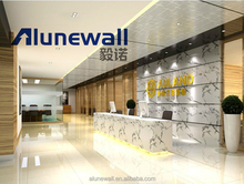 Alunewall lightweight and fireproof marble finish aluminum composite panel/stone look exterior wall materials
