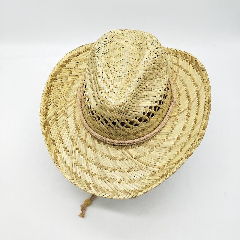 High Quality Sunshade Design Your Own Custom Printed Cowboy Hat Straw