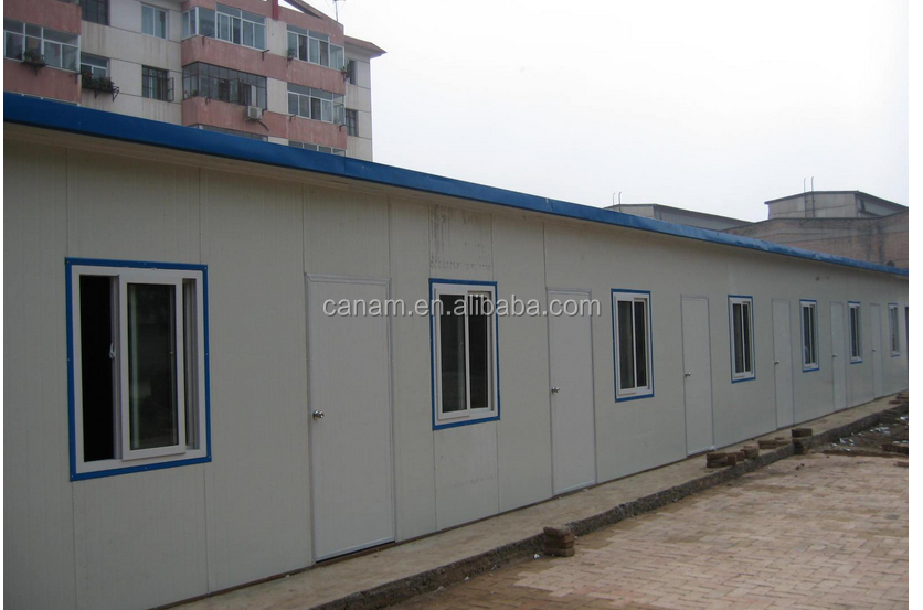 Prefab folded house for dormitory and canteen / portable dwelling with CE