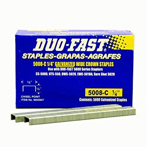 Duo Fast 5008C 20 Gauge Galvanized Staple 1/2-Inch Crown x 1/4-Inch Length, 5000 Pack Model: 1015276 (Hardware & Tools Store)