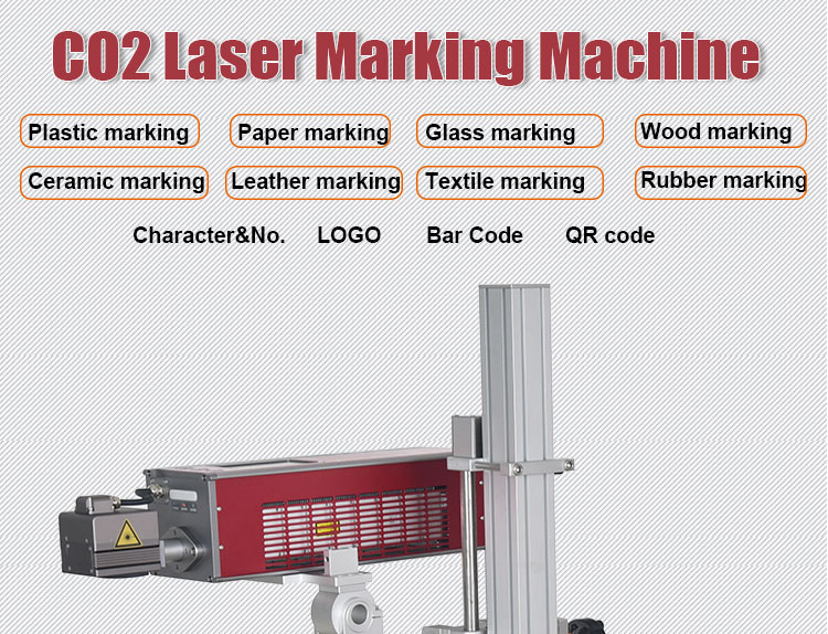 Paper Package Date CO2 Laser Marking Machine