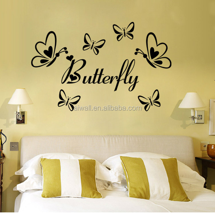 9386 Butterfly Wall Stickers Heart Dragonfly Kid Room Wall Art Home ...