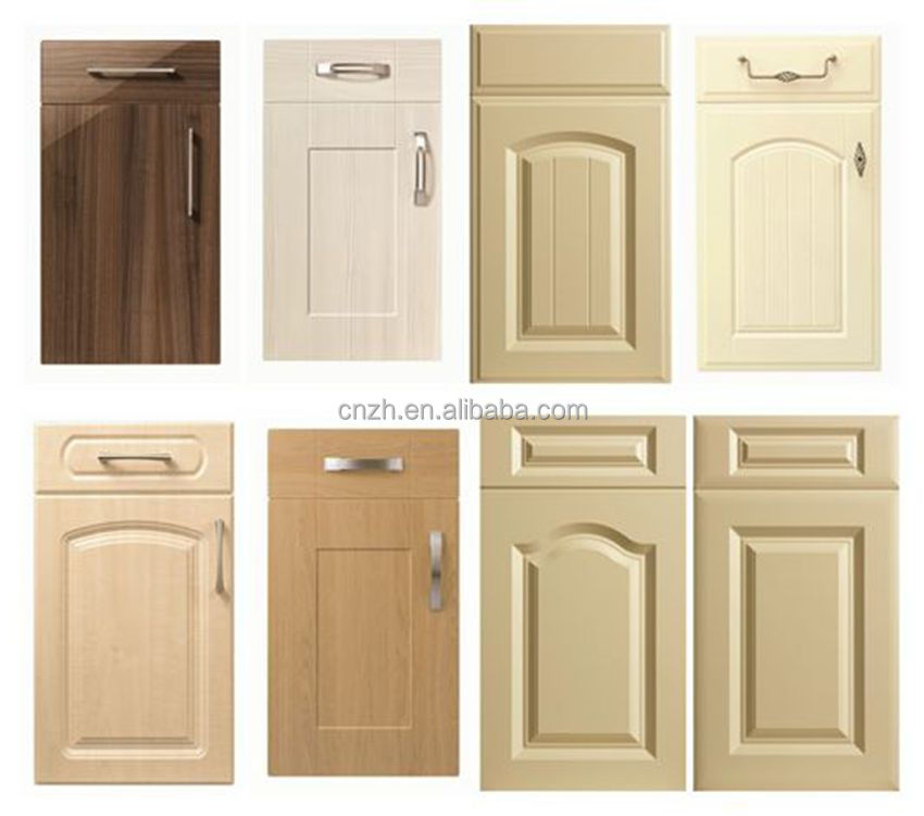 Cheap mdf pvc kitchen cabinet door price buy kitchen for Cheap kitchen cabinets doors