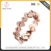 Cool Fashion Stainless Steel Matte Rose Gold S Letter Ring Jewelry