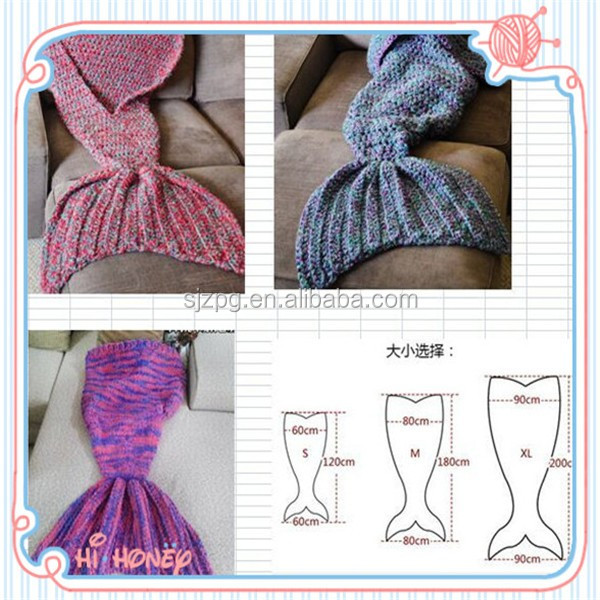 Popular Crochet Mermaid Manta Afgana - Buy Sirena Afgano,Sirena ...