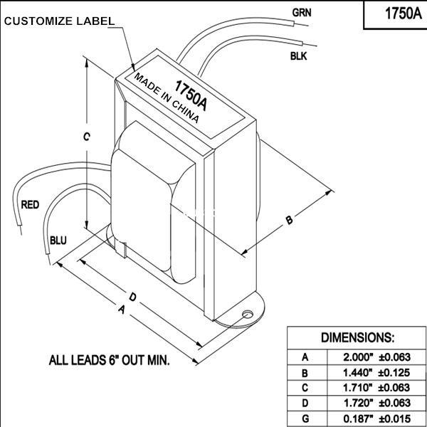 Ce Rohs Ei41 Type 1750a Mini Audio Output Transformer For Tube Audio