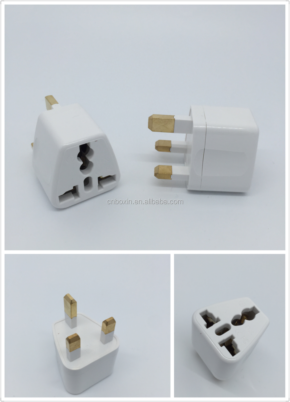 New products Hot copper pin mini universal to uk travel adaptor
