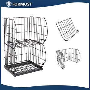 Grid wire modular shelving and metal wire shelving display racks / Multi layer Units Closet Organization Systems