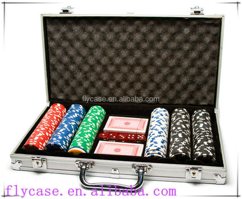 1000 pz dadi poker chip set in argento round corner custodia in alluminio per casino