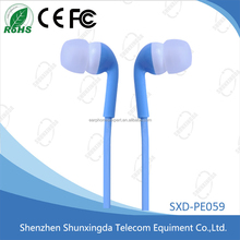 New products 2015 in-ear Mobile Phone MP3 plastic free sample Earphone
