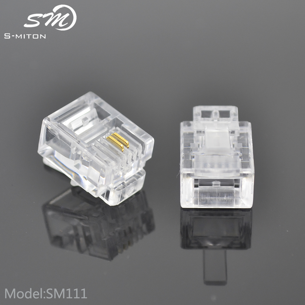 Various color telephone 6p2c connectors rj11 6 pin plug and socket