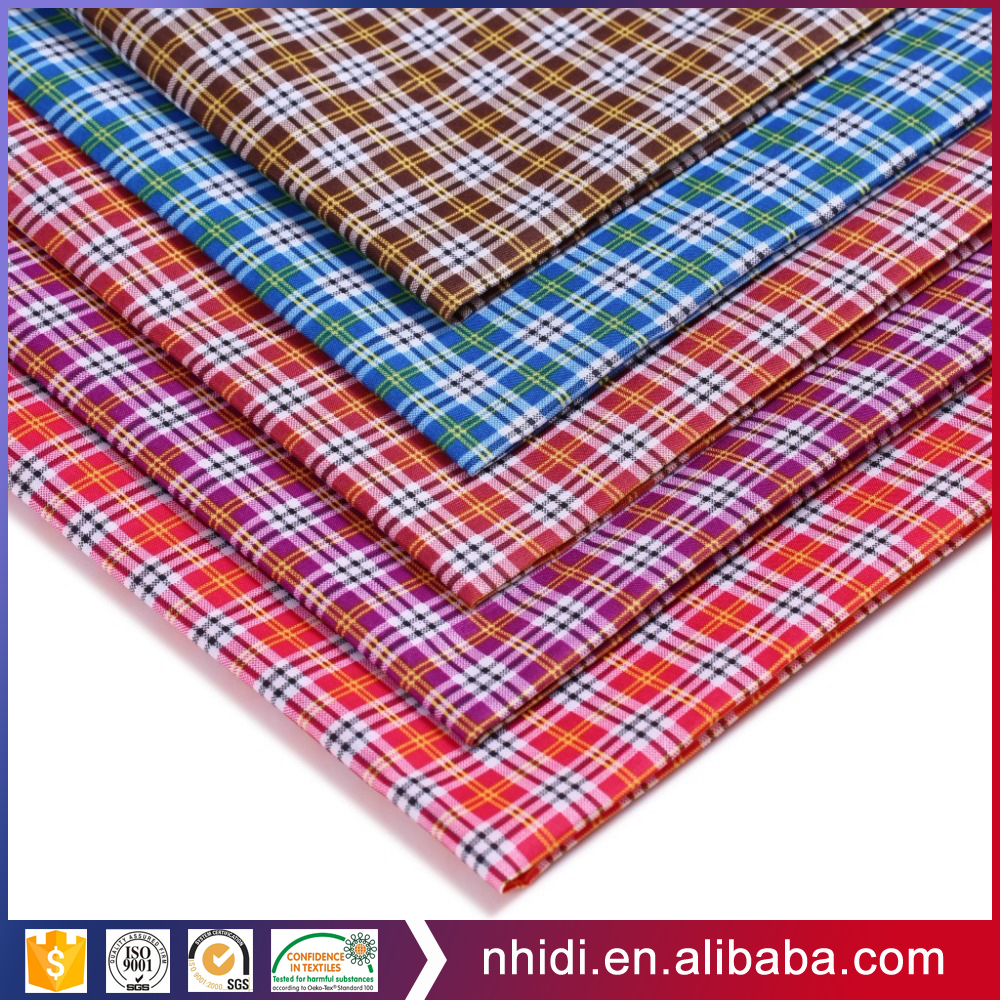 Fashion design 60s cotton textile checked yarn dyed woven fabric