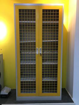 Factory Price Ensure Maximum Security Hinged Mesh Door Storage Cabinets  Swing Mesh Door Storage Cabinet With