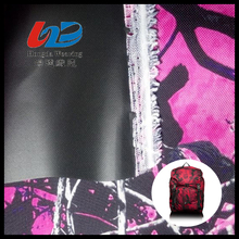 600D 100% polyester pvc coated oxford fabric polyester camouflage printed oxford fabric For Bags/Luggages/Shoes/Tent Using