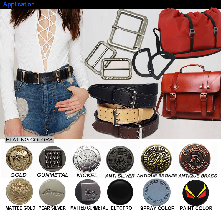 Customized Logo Uk Self Cover Harness Brass Roller Roll Pin Metal Canvas Buckle Belt Woman