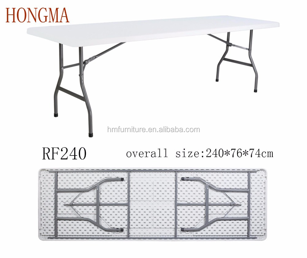 8 ft fold in half table - 8ft Folding Table 8ft Folding Table Suppliers And Manufacturers At Alibaba Com 8 Ft Fold