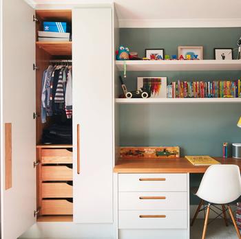 Kids Portable Bedroom Closet Wardrobe Sets Corner Unit