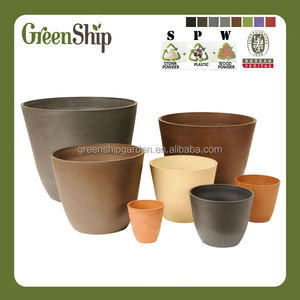 Decorative Large Size Plastic Plant Pots