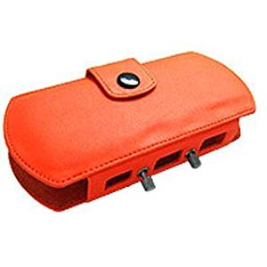 Deluxe PSP Leather Carrying Case for Sony PSP - Orange