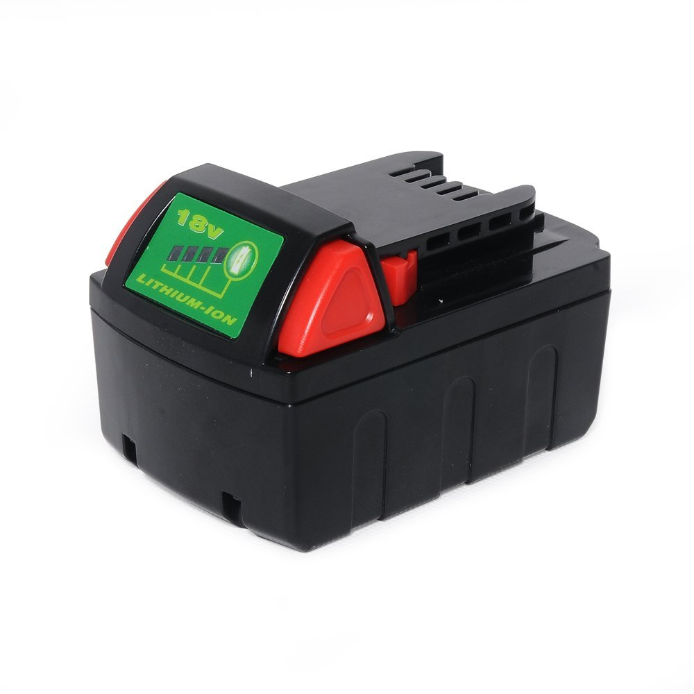 POWERAXIS 48-11-1850 18 Volt 3.0Ah M18 Lithium-ion Battery for Milwaukee Compact Drill and Impact Driver Combo Kit M18 M18B 48-11-1828 48-11-1840 C18B M18BX Li18 M18B4 M18 XC Cordless Power Tool