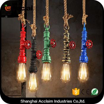 nordic loft ijzeren hanglamp vintage industrile verlichting voor restaurant