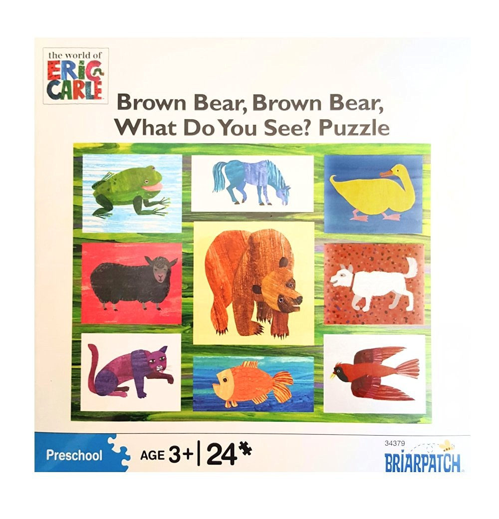 Eric Carle - Brown Bear, Brown Bear, What Do You See? Puzzle: 24 Pcs