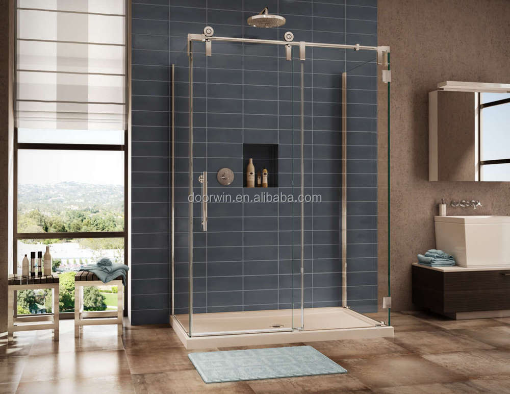 Frameless Gl Accordion Swing Shower Doors With Door