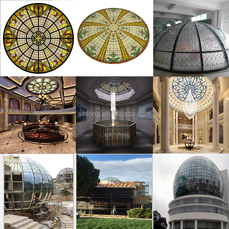 stained glass ceiling dome manufacturer