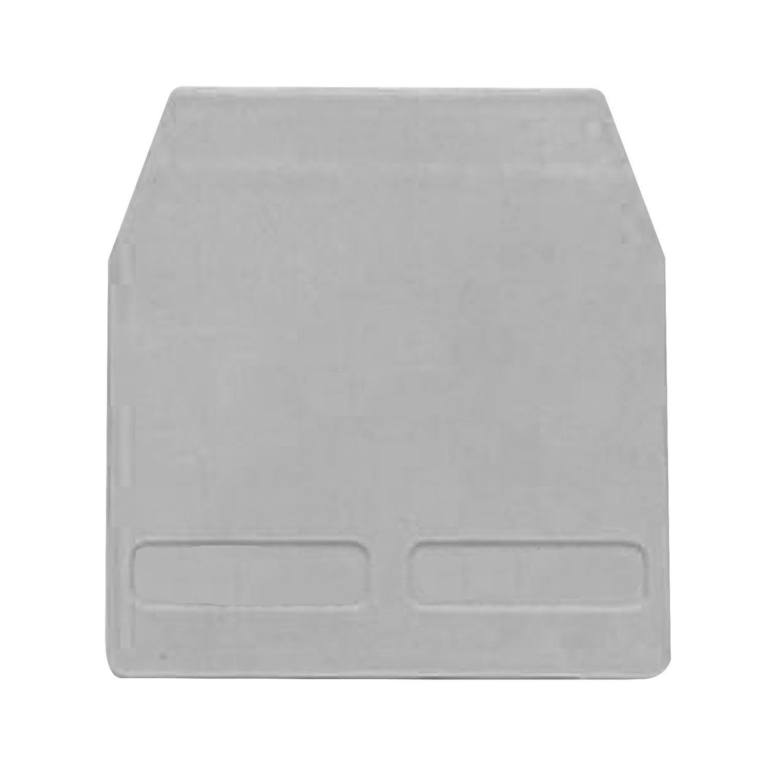 ASI HB101GR End Cover for a HB100GR Spring Clamp Sliding Link Shorting Terminal Block, Gray (Pack of 25)