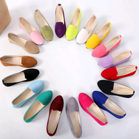 woman flat shoe pointed suede ladies plus size fashion latest casual shoes